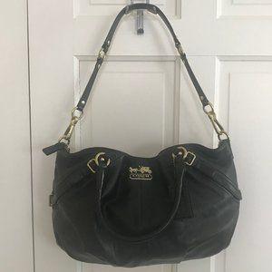 Coach Madison Sophia Black Leather Large Satchel